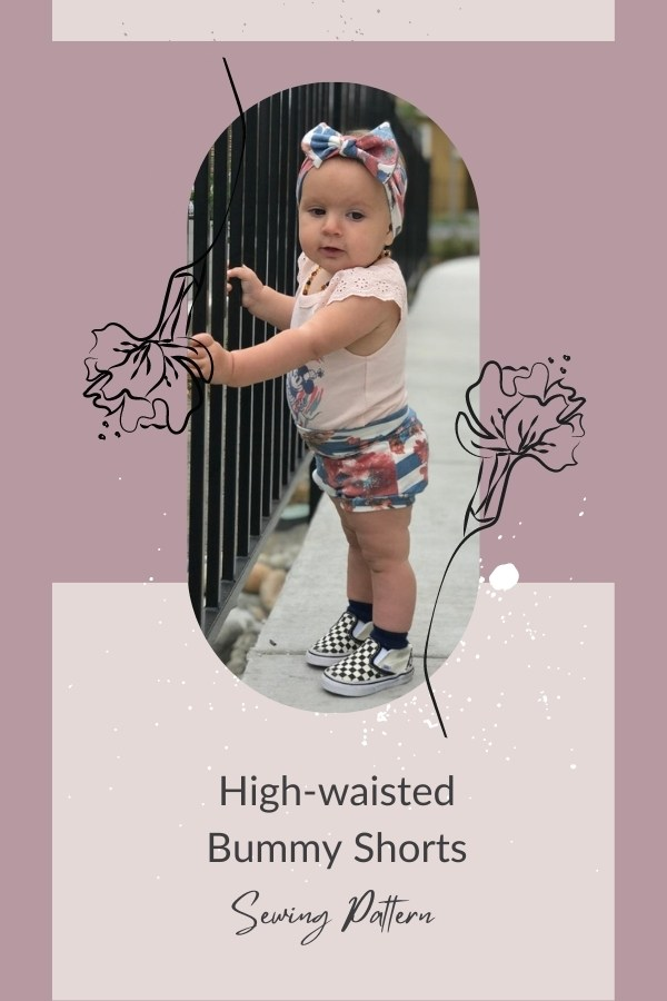 High-waisted Bummy Shorts sewing pattern