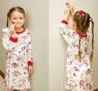 Knit Fabric Girls Knightgown FREE sewing pattern