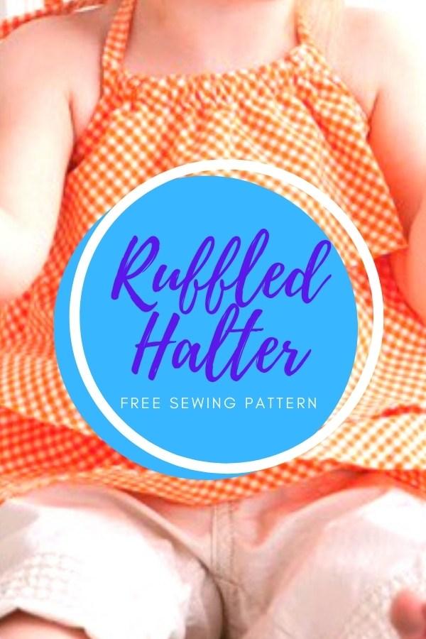 Ruffled Halter FREE sewing pattern