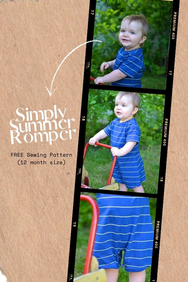Simply Summer Romper FREE sewing pattern (12 month size)
