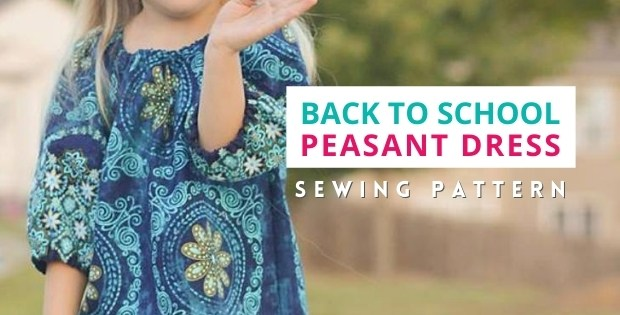 Back To School Peasant Dress sewing pattern (6mths-14yrs)