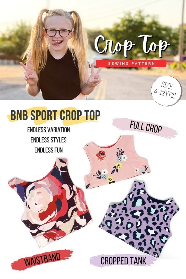 Crop Top sewing pattern (Ages 4-12)