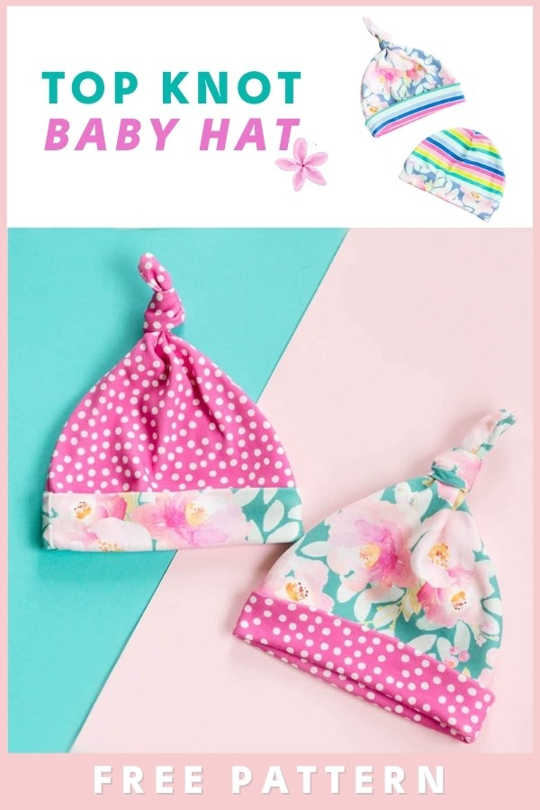 FREE Top Knot Baby Hat sewing pattern