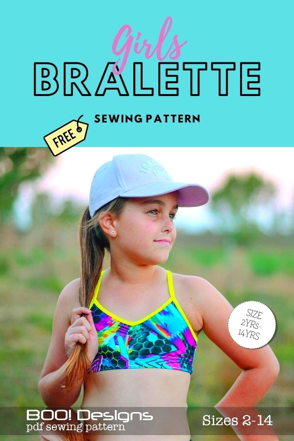 Girls Bralette FREE sewing pattern (sizes 2-14)