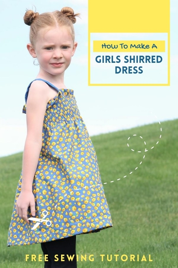How To Make A Girls Shirred Dress - FREE sewing tutorial
