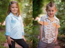 Kids' Willow Shirt sewing pattern (Sizes 4-14yrs)