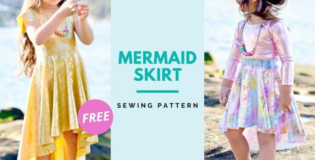 Mermaid Skirt FREE sewing pattern (0-14 sizes)