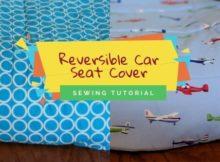 Reversible Car Seat Cover FREE sewing tutorial