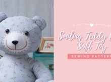 Smiling Teddy Bear Soft Toy sewing pattern