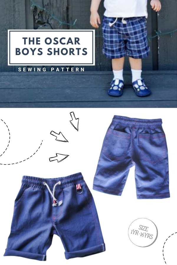 The Oscar Boys Shorts sewing pattern (Ages 1-16)