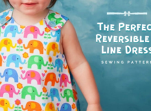 The Perfect Reversible A Line Dress sewing pattern (0-24mths)
