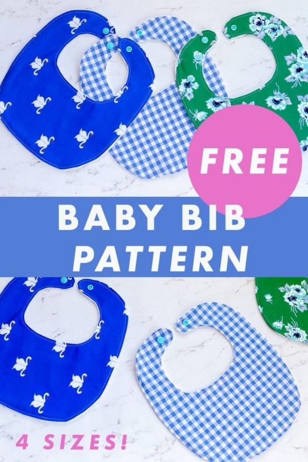 Baby Bib FREE sewing pattern (4 sizes)