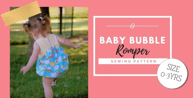 Baby Bubble Romper sewing pattern (0-3 years)