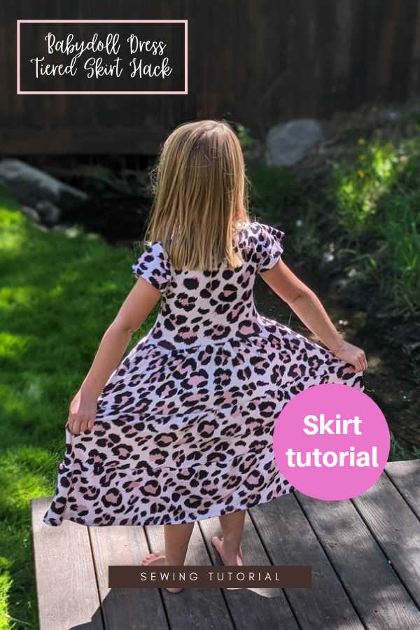 Babydoll Dress Tiered Skirt Hack sewing tutorial