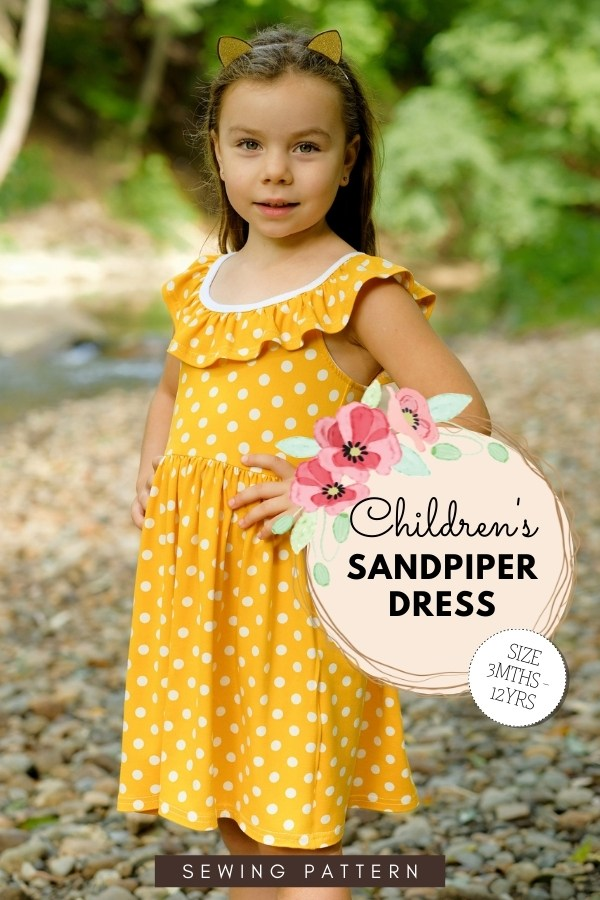 Children's Sandpiper Dress sewing pattern (3mths-12yrs)