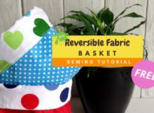 DIY Reversible Fabric Baskets FREE sewing tutorial
