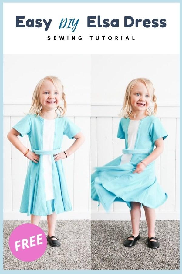 Easy DIY Elsa Dress FREE sewing tutorial