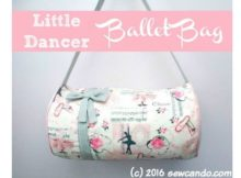 Little Dancer Ballet Bag free sewing pattern featured image