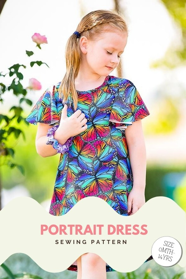 Portrait Dress sewing pattern (sizes 0-14)