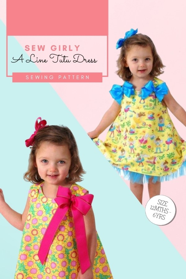 Sew Girly A-Line Tutu Dress sewing pattern (12mths-6yrs)
