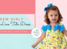 Sew Girly A Line Tutu Dress sewing pattern (12mths-6yrs)
