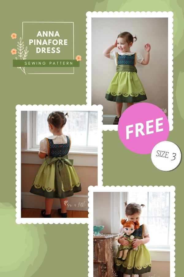Anna Pinafore Dress FREE sewing pattern (Size 3)