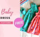 Easy Baby Girl Dress FREE sewing pattern