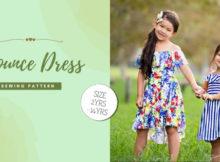 Flounce Dress sewing pattern (Sizes 2-14)