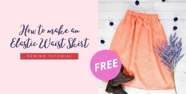 How to make an Elastic Waist Skirt FREE sewing tutorial