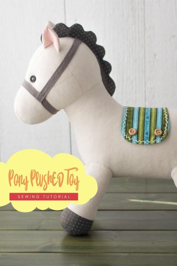 Pony Plush Toy sewing pattern