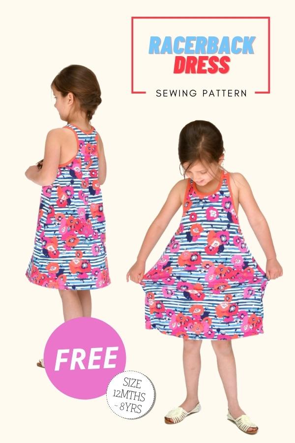 Racerback Dress FREE sewing pattern (12mths-8yrs)