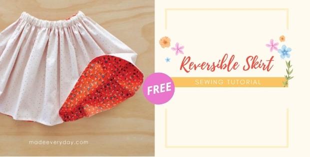 Reversible Skirt FREE sewing tutorial