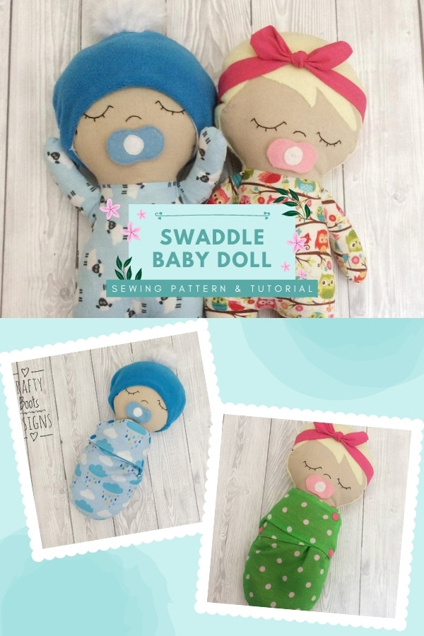 Swaddle Baby Doll sewing pattern and tutorial