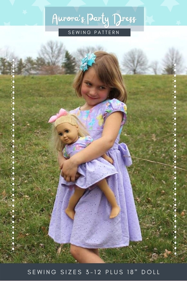 Aurora's Party Dress sewing pattern (sizes 3-12 plus 18 inch matching doll dress) width=