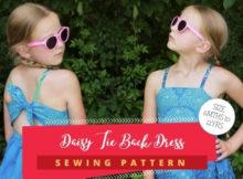 Daisy Tie Back Dress sewing pattern (6mths-12yrs)