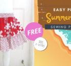 Easy Peasy Summer Skirt FREE sewing pattern (2-10 years)