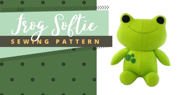 Frog Softie sewing pattern