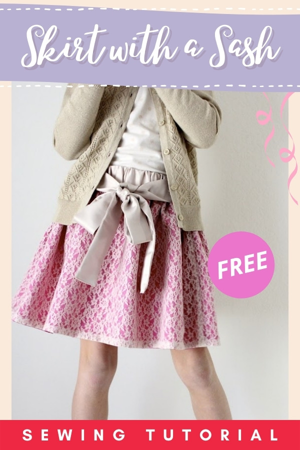 Skirt with a Sash FREE sewing tutorial